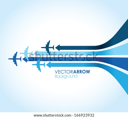 abstract blue airplane
