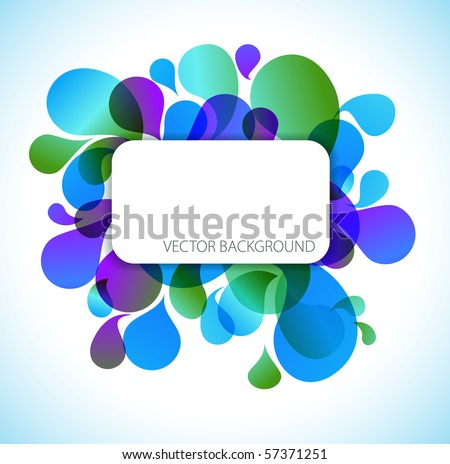 Abstract blue and green background with place for your text