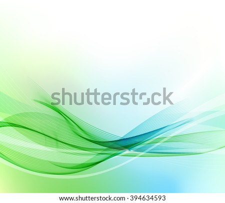 abstract blue and green wavy