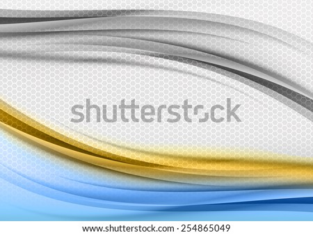 stock-vector-abstract-blue-and-orange-background-with-grey-hexagon