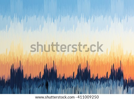 abstract blue and orange sky
