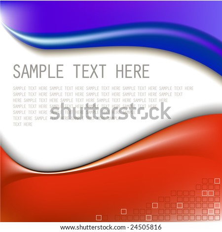 Abstract blue and red background with place for your text
