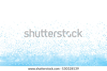 abstract blue and white mosaic