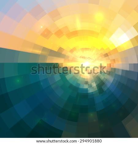 abstract blue and yellow circle
