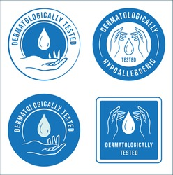 Abstract blue antibacterial logo template