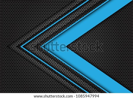 abstract blue arrow speed