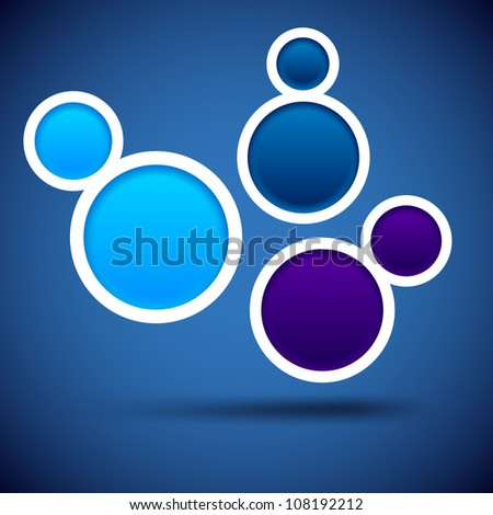 Abstract blue background contains of round bubbles. Vector eps10. - stock vector