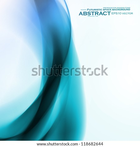 Abstract blue background,  futuristic wavy vector illustration eps10
