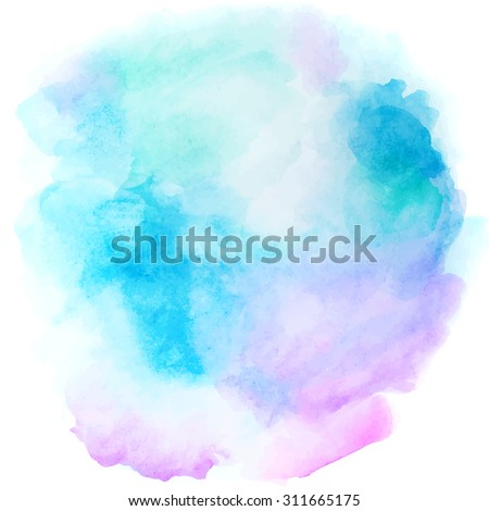 Stock Photo Abstract blue background in watercolor style for vintage design