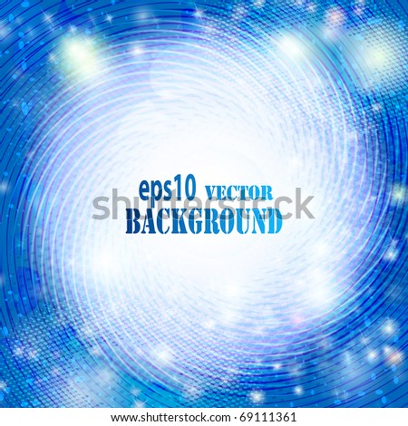 Abstract blue background. Vector eps10 illustration