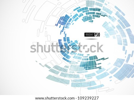 Abstract blue background. Vector illustration. Eps 10.