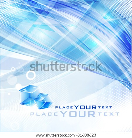 abstract blue background with a