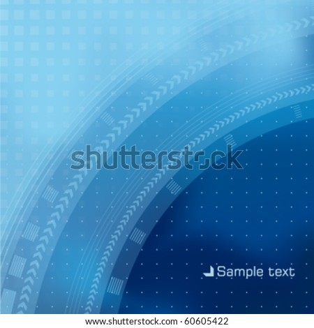 Abstract blue background with arrows - stock vector