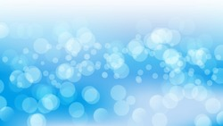 Abstract blue background with bokeh light. Vector illustration for graphic design or sea content