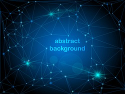 abstract blue background with connected dots and lines. global network concept