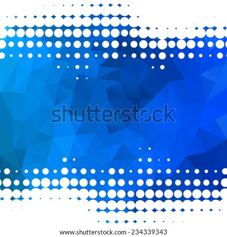 Abstract blue background with dots