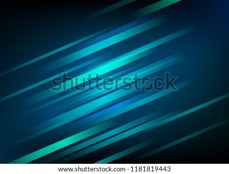 Abstract blue background with light diagonal lines. Speed motion design. Dynamic sport texture. Technology stream vector illustration.