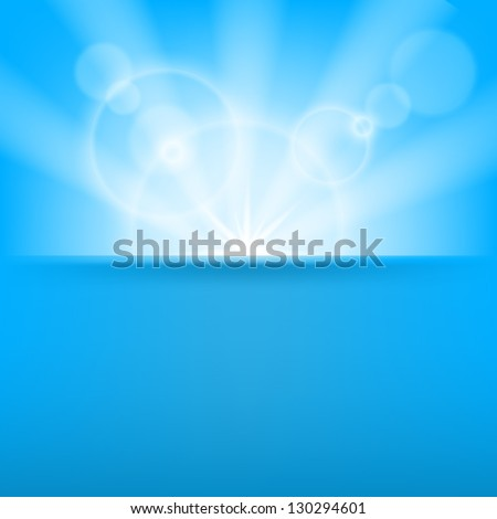 Abstract blue background with light effects - stock vector
