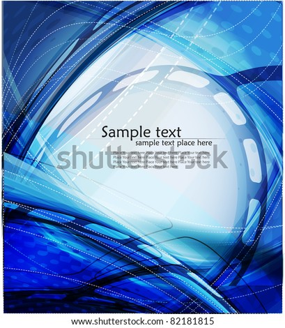 Abstract blue background with lighting effect. Vector