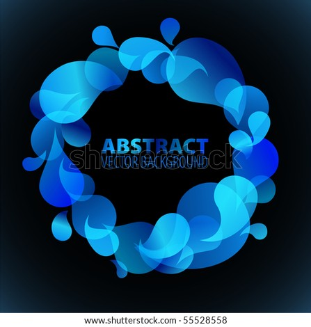 Abstract blue background with place for your text