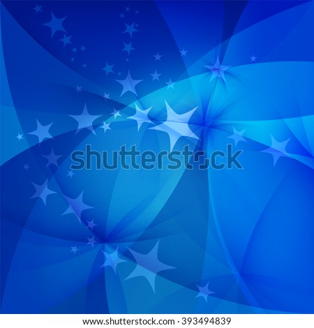 Abstract blue background with stars