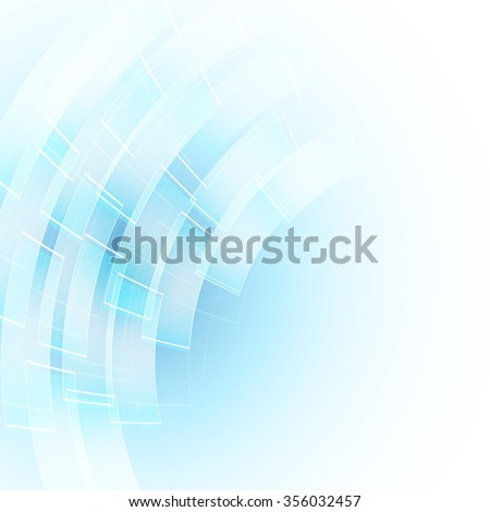 abstract blue background with transparent shapes