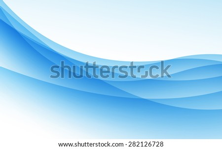 Abstract blue background with wave. Vector illustration. Clip-art
