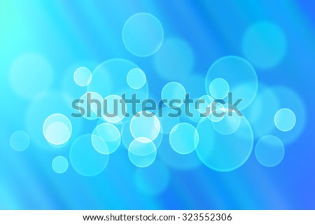 Abstract blue blurred boken background, vector illustration