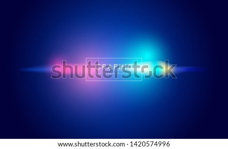 Abstract blue blurred gradient background with beautiful light glowing on gradient blue background.Modern and Creative design in EPS10 vector illustration.
