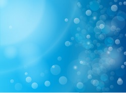 Abstract blue bokeh vector background