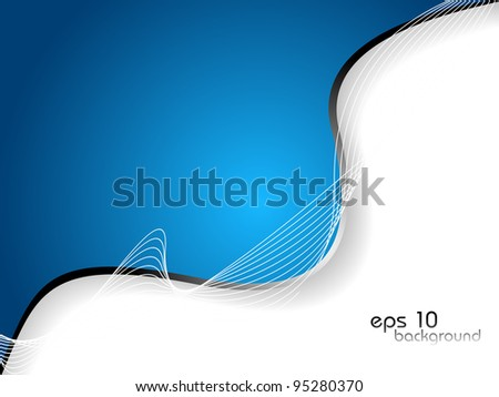 abstract blue business background. Vector Illustration.