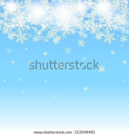 abstract blue christmas