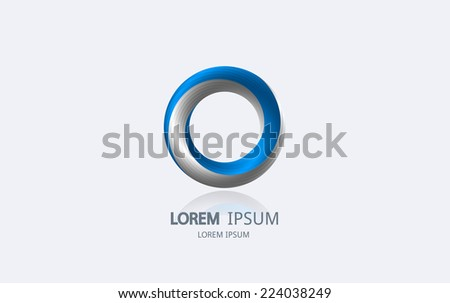 abstract blue circle logo