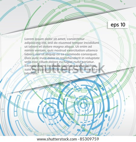 Abstract blue circles on white background. ready for a text