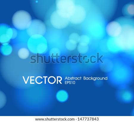 abstract blue  circular bokeh