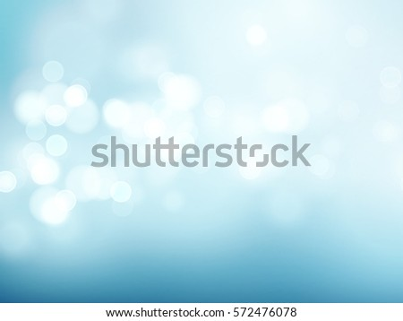 Abstract blue circular bokeh background. Vector illustration EPS10