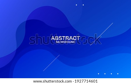 Abstract blue color background. Dynamic shapes composition. Eps10 vector