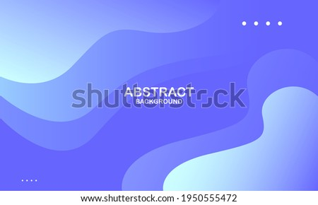 Abstract blue color background. Dynamic shapes composition. Vector illustration Foto d'archivio ©