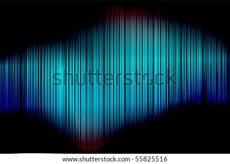 Abstract Blue Colorful Vector Vertical Striped Pattern Background With Blures