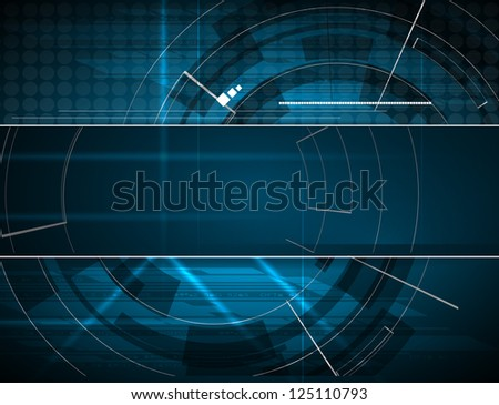 abstract blue computer technology business banner background