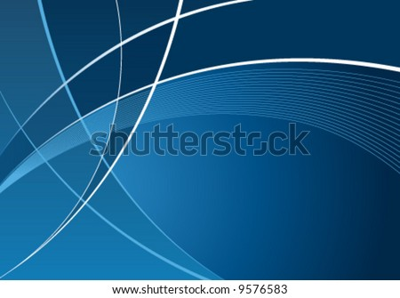 Abstract blue curves background with wave pattern