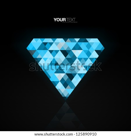 abstract blue diamond