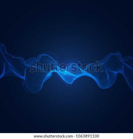 abstract blue digital frequency