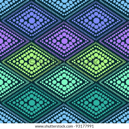 abstract blue dot geometric pattern. Colorful vector illustration