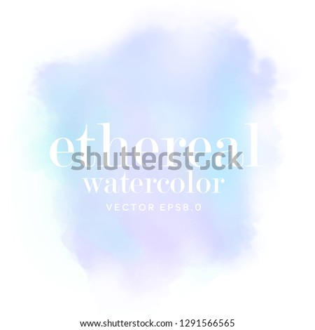 abstract blue ethereal background. soft purple aquarelle watercolor on white. pastel paper. eps 8