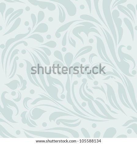 Abstract blue floral background for your card, invitation, wedding, illustration, wallpaper, postcard, greeting (vector version eps 10)
