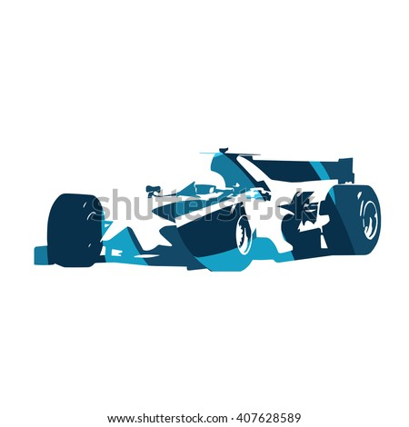 abstract blue formula racing