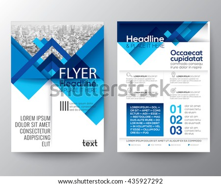 Abstract blue geometric background for Poster Brochure Flyer design Layout vector template in A4 size