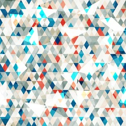 abstract blue glass triangles seamless with grunge effect