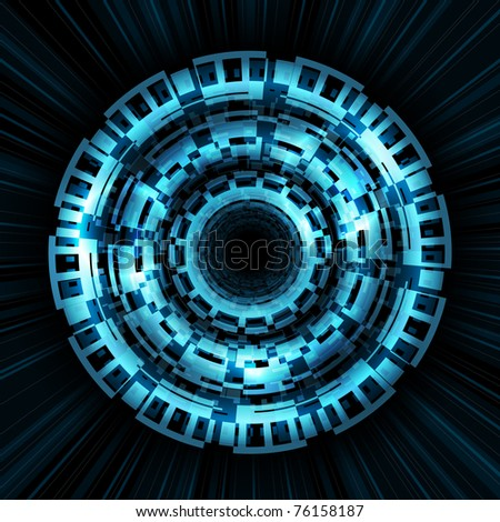 abstract blue glowing vector